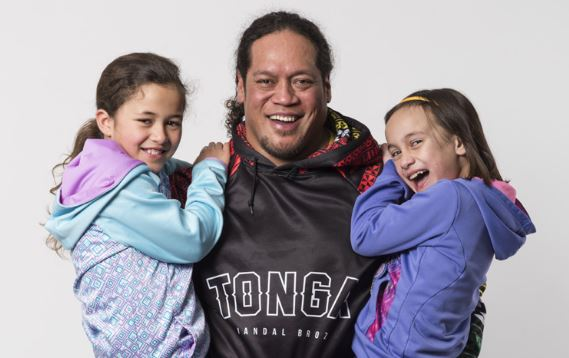 Dad with two girls